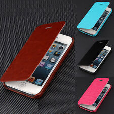 For Apple iPhone 4/4S/5/5S Hot Luxury PU Leather Flip Wallet Case Cover Pouch