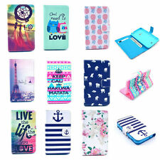 Magnetic Patterned Flip Wallet Leather Stand Case Cover For Various Phone