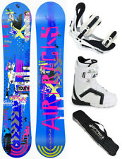 Snowboard Set AIRTRACKS Bluebird Rocker+Bindings+Boots+Bag+Pad /145 151 155 cm/