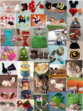 H-Q Cotton Baby Boy Girls Hat Infant Knitted Crochet Costume Photo Prop outfits