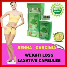 SENNA & GARCINIA CAMBOGIA HCA Weight Loss Capsules - Constipation LAXATIVE DIET