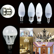 3W/7W/9W/12W/15W B22 B15 E14 E27 LED Globe Bulb SMD Candle Light Pure/Warm Lamp