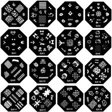 Fashion Women DIY Nail Art Image Stamp Stamping Plates Manicure Template 60Types