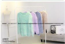candy color mohair sweaters sweaters T-shirts all-match wide pine 1145#