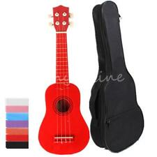 Ukulele 7 Colors Beginners 4 String with Black Carry Case Bag Music Instruments