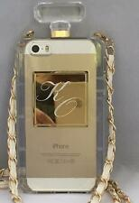 Initlialzed Phone Case - Perfume Bottle - w/Your Initials & Carry Chain