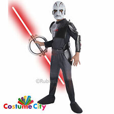 INQUISITOR Officiel DISNEY STAR WARS REBELLES ENFANT COSTUME ROBE FANTAISIE GARÇONS pa