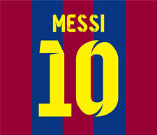 MESSI 10 - FC BARCELONA 2014 2015 FOOTBALL SHIRT IRON ON SOCCER KIT NAME NUMBER