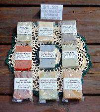Sample Size 6 Varieties of DEAD SEA SALT & PREMIUM Natural SOAP $1.30 Grouping