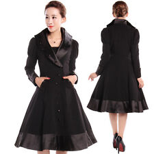 Veronica Coat Black Jacket Gothic Goth Steampunk Burlesque 50's