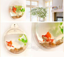 Acquario Da Muro Da Appendere Forma Boccia Hanging Mount Bubble Fish Bowl HOT!
