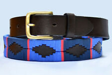 Argentinian Brown Leather Polo Belt - Gaucho Belt - Assorted Colors & Sizes