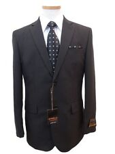 Men's Dress Suit Single Breasted 2 Buttons Black All Sizes + Free Suit Bag