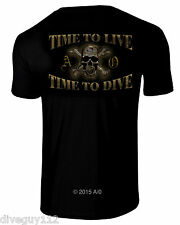 Amphibious Outfitters T-Shirt - Time To Live / Time To Dive - Black - Scuba