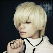 New Fashion Cosplay Men's and Neutral Short Straight Wigs Full Wigs NC07