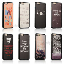 New Slim Funny Quirky Quote Hard Case Back Skin Cover For Apple iphone 6 6 Plus