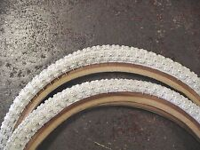 20 x1.75 White Comp III 3 BMX skinwall tires pair by CST