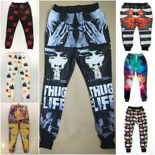 NEWEST Black Hip hop Men cool 3D Tupac 2Pac sport slacks Pants jogger sweatpants