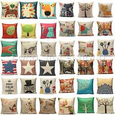 Animal Tree Music Flower Throw Pillow Cushion Case Cover Home Sofa Decor Gift