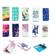 Fashion Stylish Patterned Folio Wallet Leather Stand Case Cover For Smart Phones
