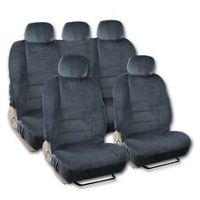 BDK Universal Fit 9-piece Full Set Scottsdale Fabric Low Back Deluxe Car Seat Co