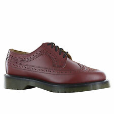 BRAND NEW GENUINE DR MARTENS DOCS MENS BROGUES IN CHERRY RED LEATHER MODEL 3989