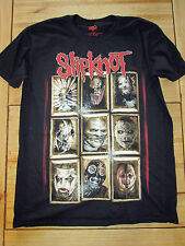 SLIPKNOT NEW MASKS BLACK OFFICIAL T SHIRT