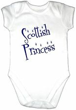 SCOTTISH PRINCESS Baby Grow Gro Vest Gift Girl Bodysuit SCOTLAND Clothes Onezie