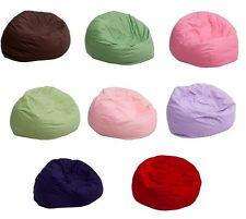 Kids Cozy Bean Bag Chair Washable (brown,pink,blue,green,purple,red)