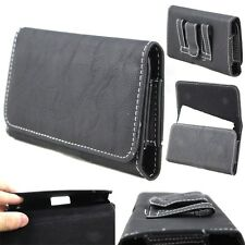 Horizontal PU Leather Pouch Belt Clip Case Flip Cover Holster for Alcatel Phones