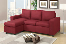 Small 2 Pieces Sofa Set Corner Sectional Couch w/ Reversible Chaise