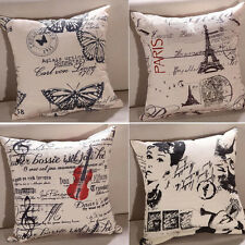 Decorative Cushion Cover Cotton Linen Throw Pillow Cases Simple Home Square New