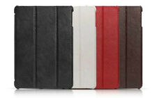 ICARER GENUINE LEATHER CASE FOR APPLE IPAD AIR WITH STAND & SLEEP / WAKE
