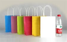 New 5x cute Party Bags Kraft Paper Gift Bag With Handles Recyclable Loot Bag HI
