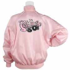 Lost in the Fifties Stylized Chenille Pink Satin Jacket