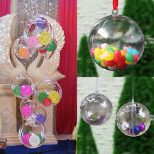 Christmas Clear Transparent Bauble Ornament Gift Present Xmas Tree Craft Fun