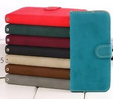 Luxury Soft Leather Card Flip Wallet Case Stand Cover Pouch For Apple iPhone 5C