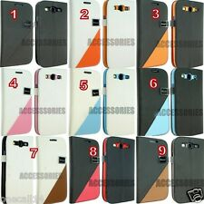 SAMSUNG GALAXY S3 i9300 LEATHER WALLET STYLE FLIP COVER CASE NICE DESIGN S111