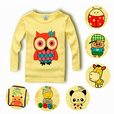 Kids Toddlers Girls Clothing Long Sleeve Pullover Blouse T-Shirts Tops Size 1-5Y