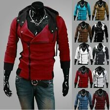 Mens Assassin's Creed 7 Slim Fit Hoodies Sweats Costume Coat Jacket Cosplay