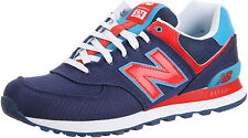 New Balance 574 Passport Pack PPN Navy Blue Red Walking Athletic Sneaker Shoe