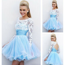 Short Prom Evening Dress party Ball Gowns girls Usual dress stock size 6 -16