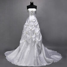 FREE SHIPPING White Vogue DESIGNED Stylish Wedding Dresses Bride Gown Size 10 16