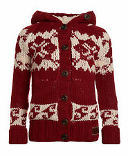 New Womens Superdry Courcheval Knit Red BFK WKD1
