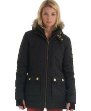 New Womens Superdry Patrol Jacket Black BFJ WJD1