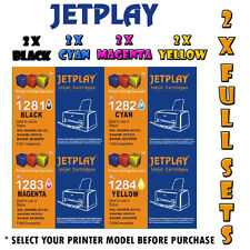 8 x Jetplay Compatible Ink for Epson Printers - 2 x Full Sets of Compatible Inks