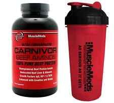 MuscleMEDS CARNIVOR BEEF AMINOS 300 Tablets - SHAKER CUP - Muscle Meds Amino