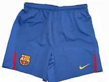 FC Barcelona Nike boys blue lined dri fit football training shorts 286811 425