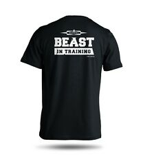 Beast In Training T-Shirt Gym Exercise Workout Cross-Fit 100% Cotton S M L XL
