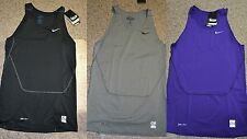 Nike Pro Combat Core Compression Tank 449789 Black 010 Gray 091